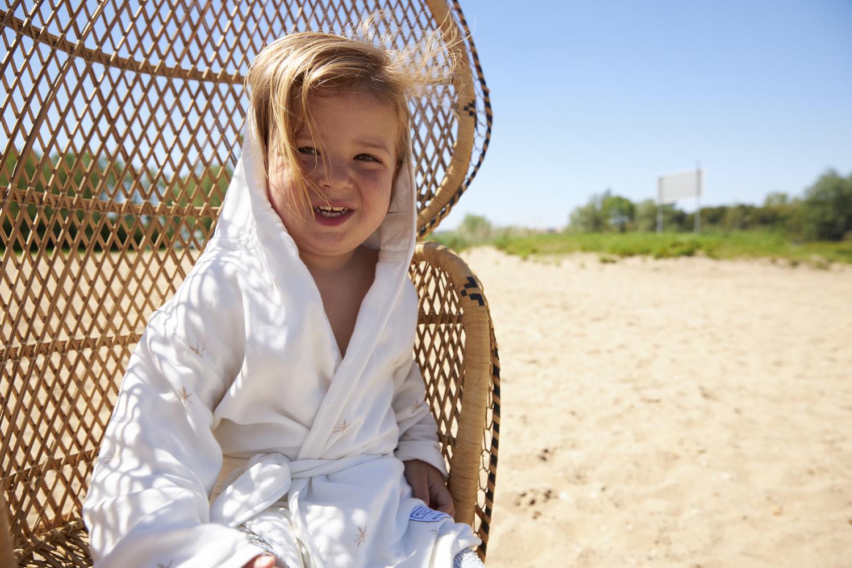 Meyco X Mrs. Keizer Bamboe Badjas Ibiza - Warm Sand - 110/116