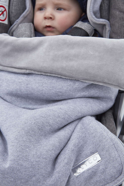 Voetenzak Knit Basic - Grijs Melange - 40x82cm