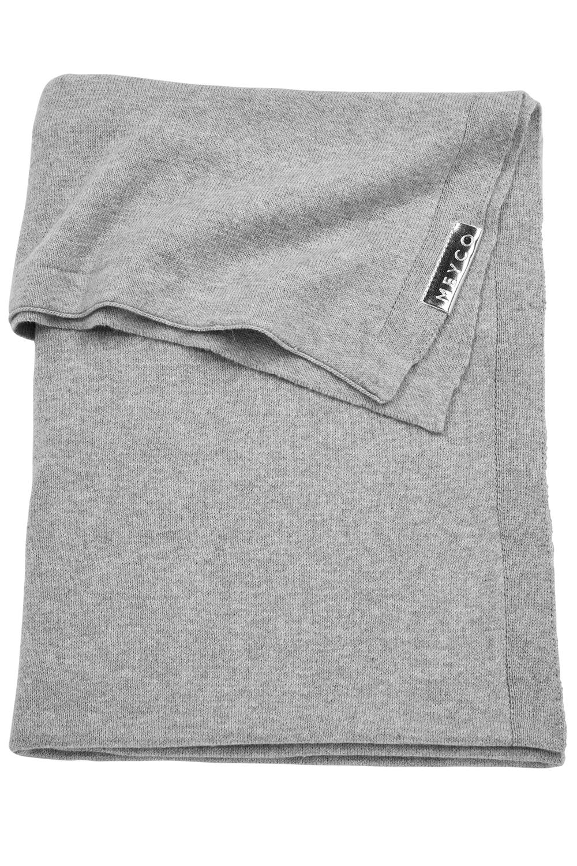 Wiegdeken Knit Basic - Grijs Melange - 75x100cm