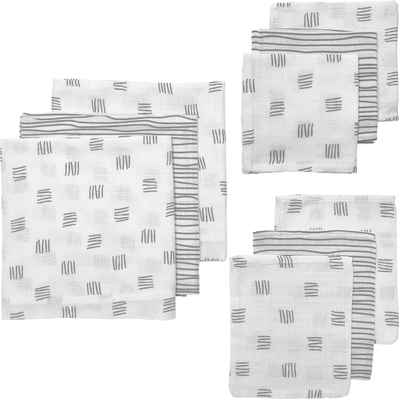 Hydrofiel Starterset 9-delig Block Stripe - Grijs