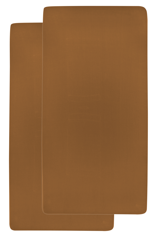 Jersey Hoeslaken 2-Pack - Camel - 40x80/90cm