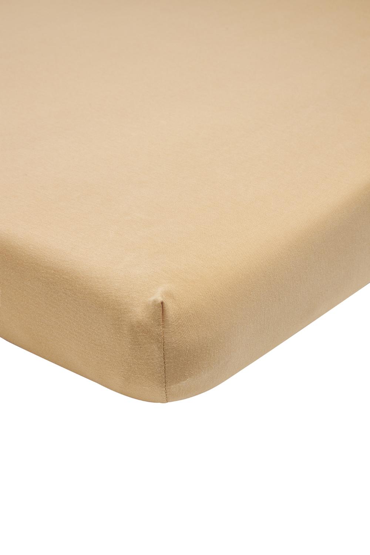 Jersey SpannBettlaken Laufgittermatratze - Warm Sand - 75x95cm