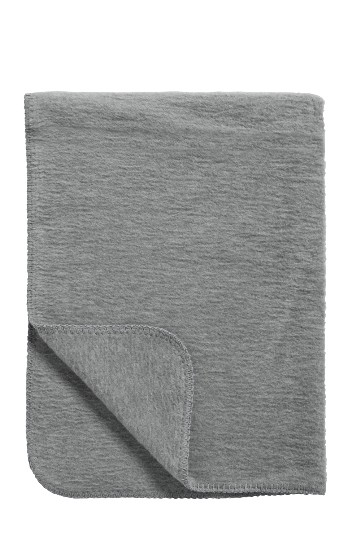 Ledikantdeken Uni - Antraciet - 100x150cm