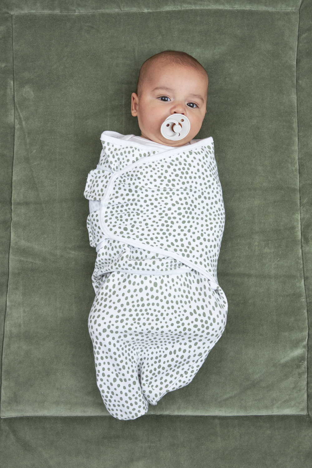 Swaddlemeyco Cheetah - Forest Green - 0-3 Maand