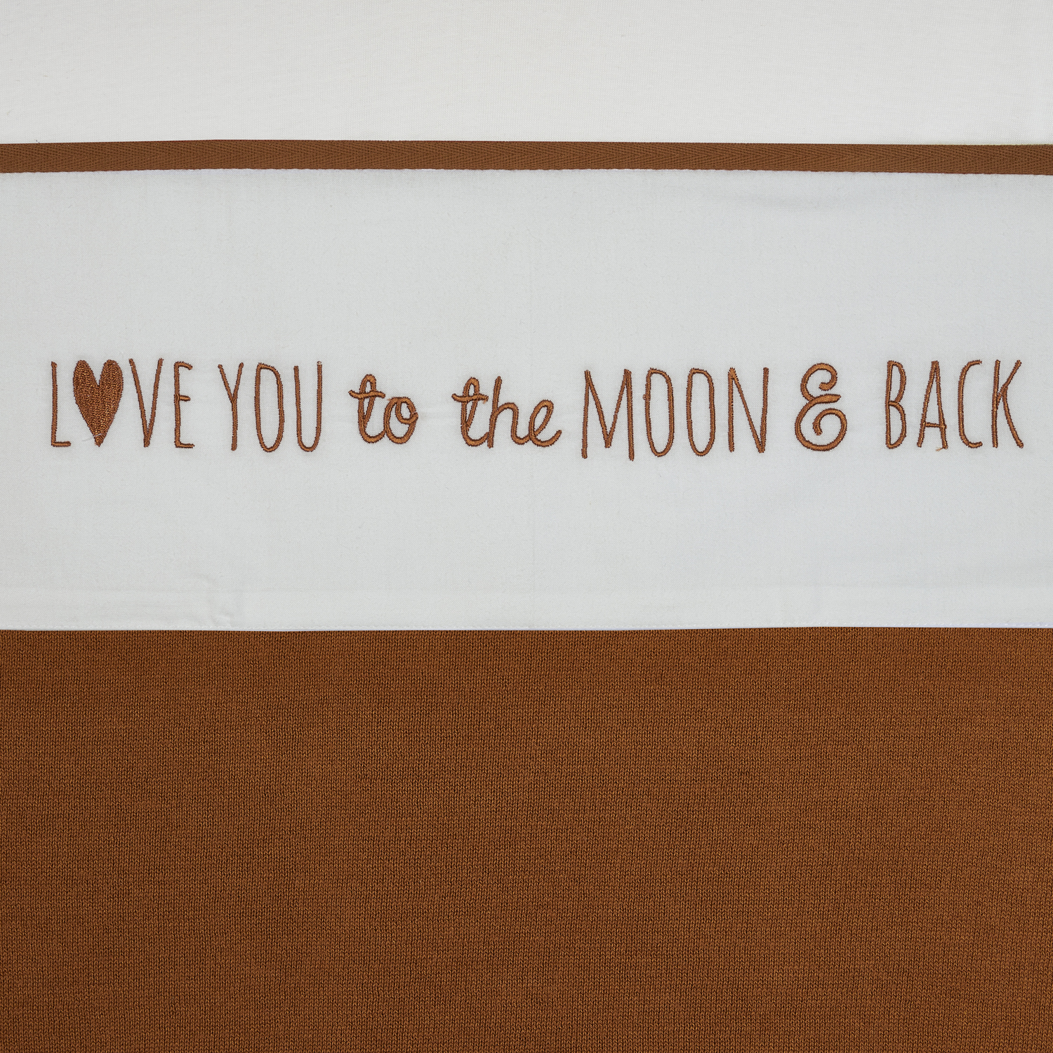 Wieglaken Love You To The Moon & Back - Camel - 75x100cm