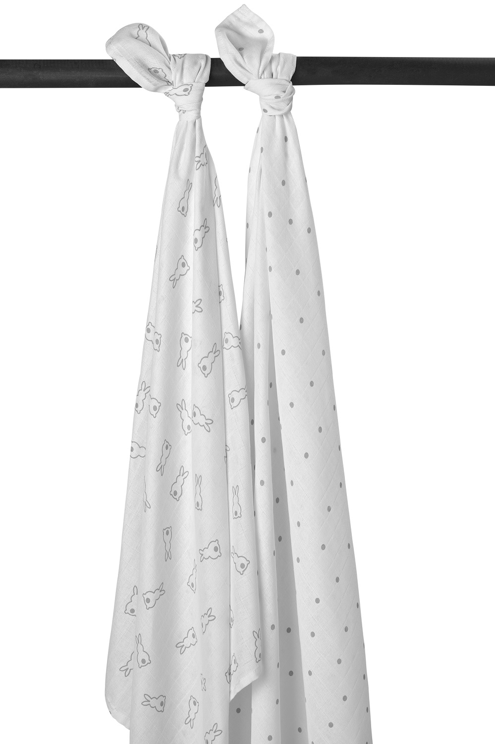 Meyco X Mrs. Keizer 2-Pack Swaddle Rabbit - Silver