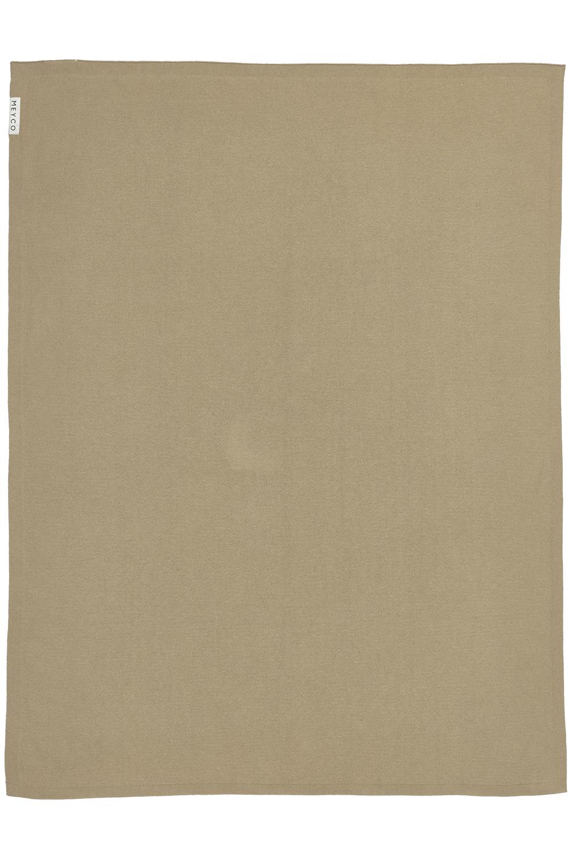 Wiegdeken Knit Basic - Taupe - 75x100cm