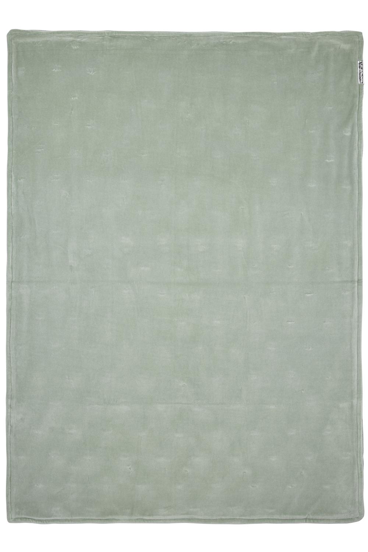Wiegdeken Velvet Knots - Stone Green - 75x100cm