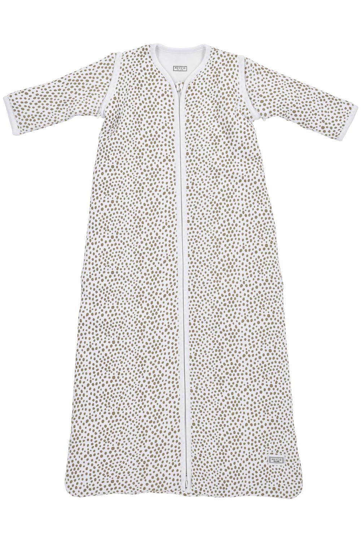Schlafsack Abnehmbare Ärmel Gefüttert Cheetah - Taupe - 90cm