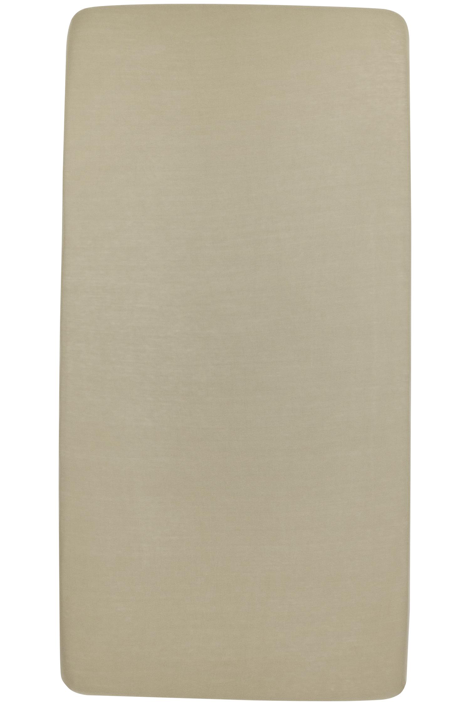 Jersey Hoeslaken Wieg - Taupe - 40x80/90cm