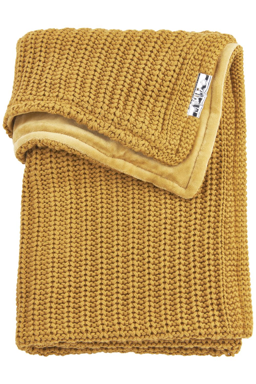Wiegdeken Velvet Herringbone - Honey Gold - 75x100cm