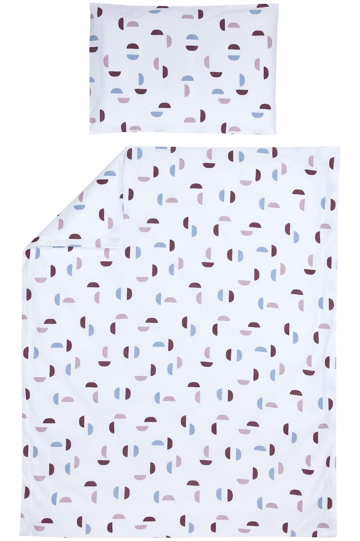 Bettdeckenbezug + Kissenbezug Shapes - Lilac - 100x135cm