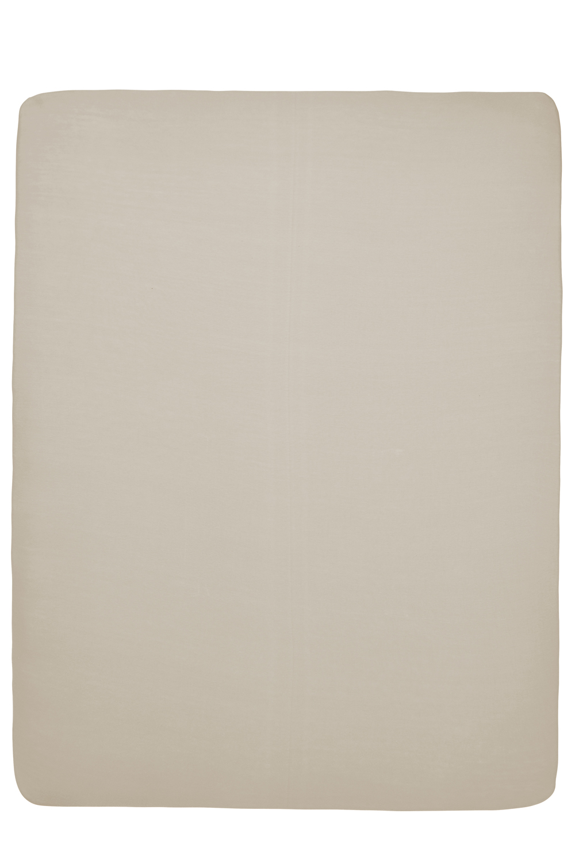 Jersey Hoeslaken Boxmatras - Zand - 75x95cm