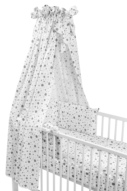 Babyset 4-Delige Ledikant Dots - Grijs - 100x135cm