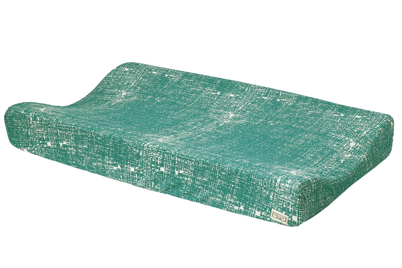 Aankleedkussenhoes Fine Lines - Emerald Green - 50x70cm