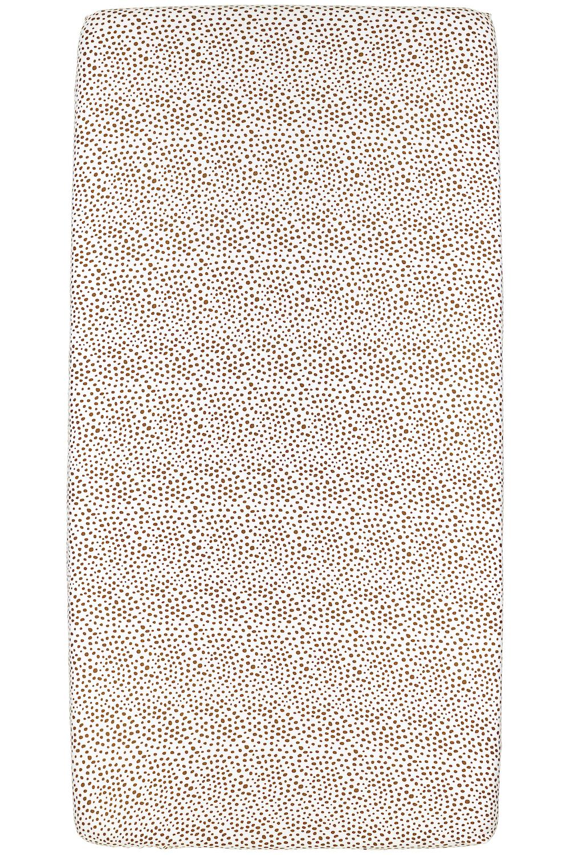 Jersey Hoeslaken Cheetah - Camel - 60x120cm