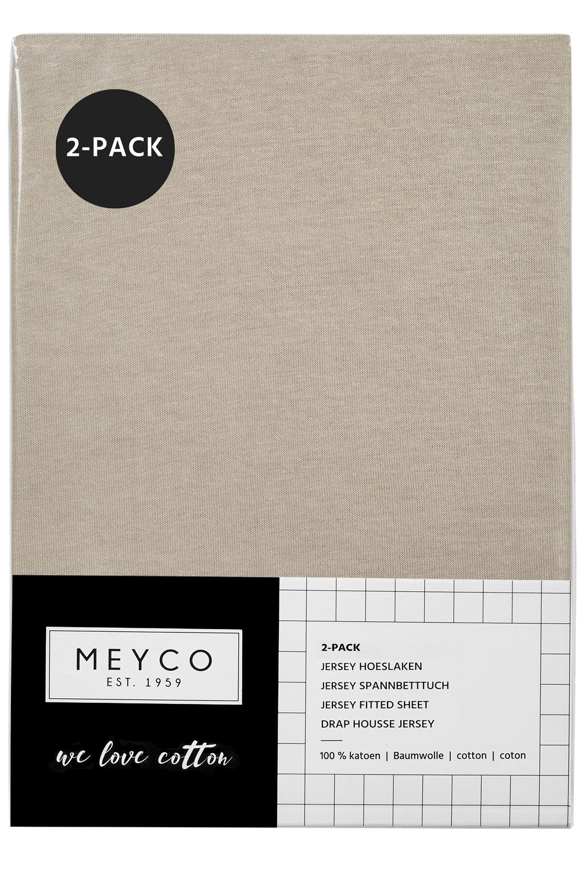 Jersey Spannbettlaken 2-Pack - Sand - 60X120cm