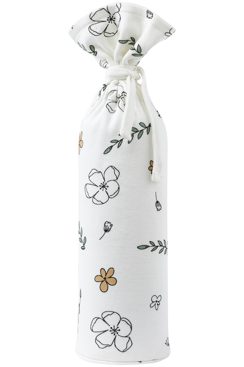 Organic pitcher bag Floral -13x35cm