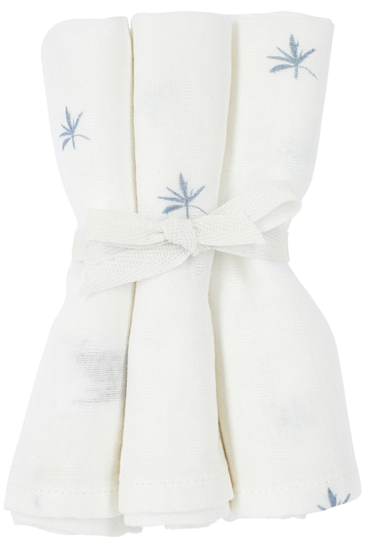 Meyco X Mrs. Keizer 3-pack Bamboe Washandjes Ibiza - Denim - 20x17 cm