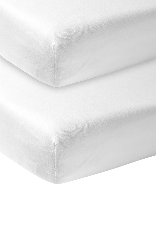 Jersey Hoeslaken 2-Pack - Wit - 70x140/150cm