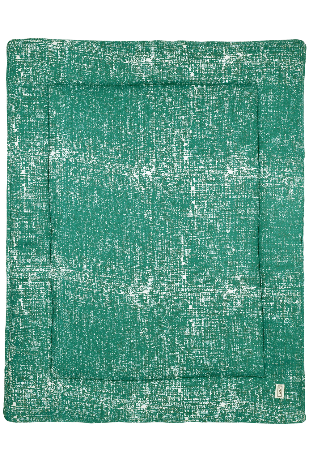Boxkleed Fine Lines - Emerald Green - 77x97cm