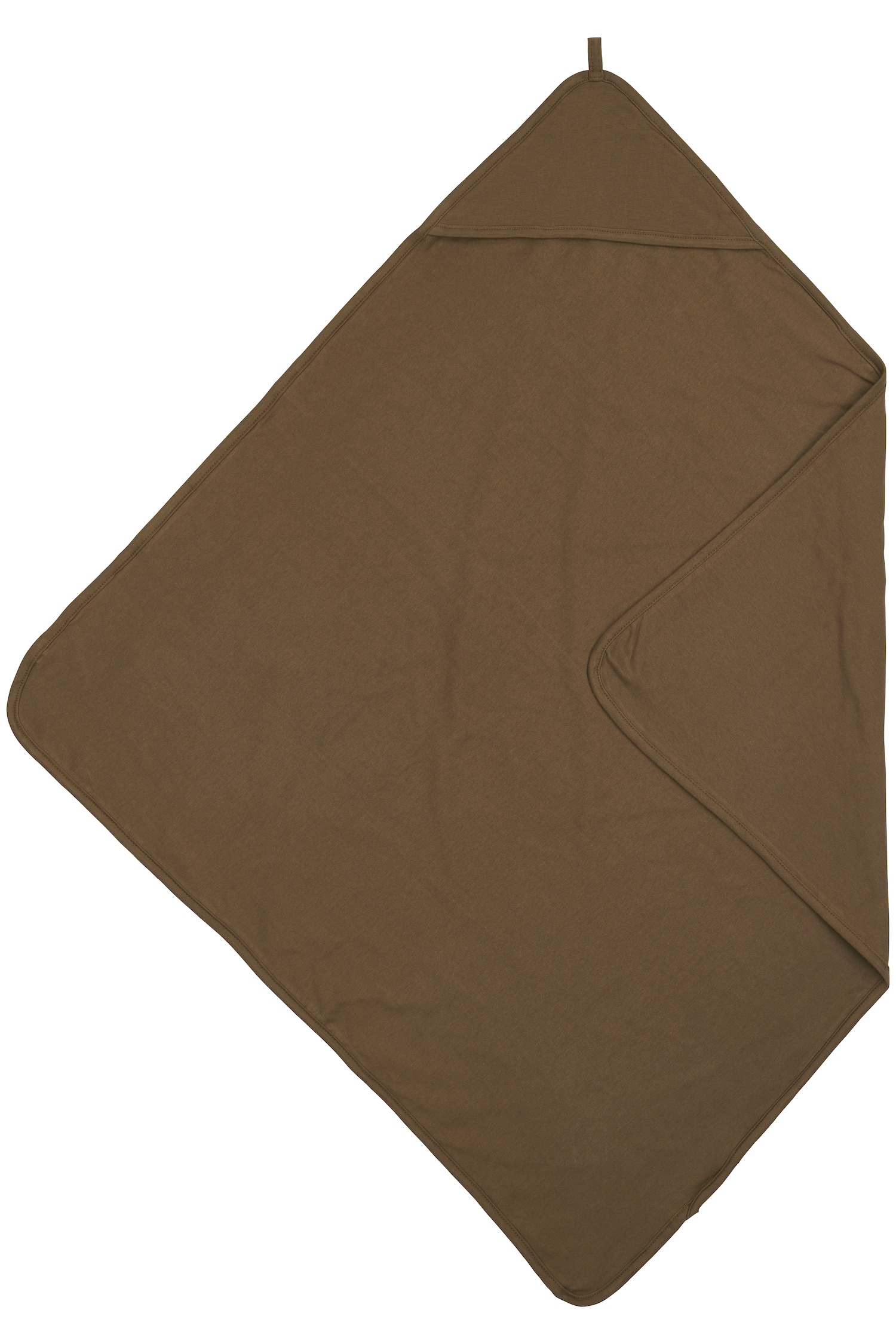 Kapuzentuch Basic Jersey - Chocolate - 80x80cm
