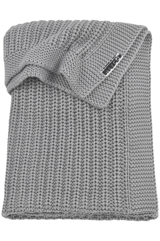 Ledikantdeken Herringbone - Grijs - 100x150cm